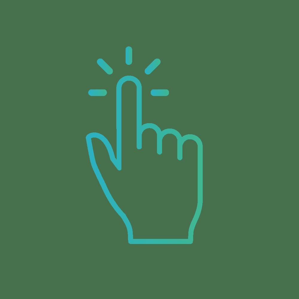 Pictogramme choisir main doigt