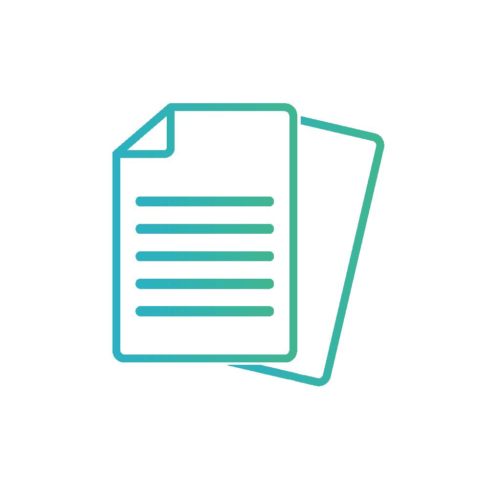 Pictogramme ordonnance papier fichier