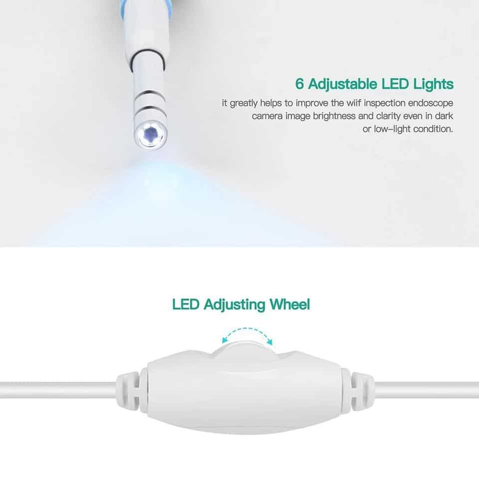 Otoscope électronique 6 lumières LED ajustables