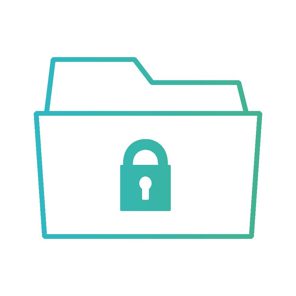 pictogramme fichier dossier données sécurisées