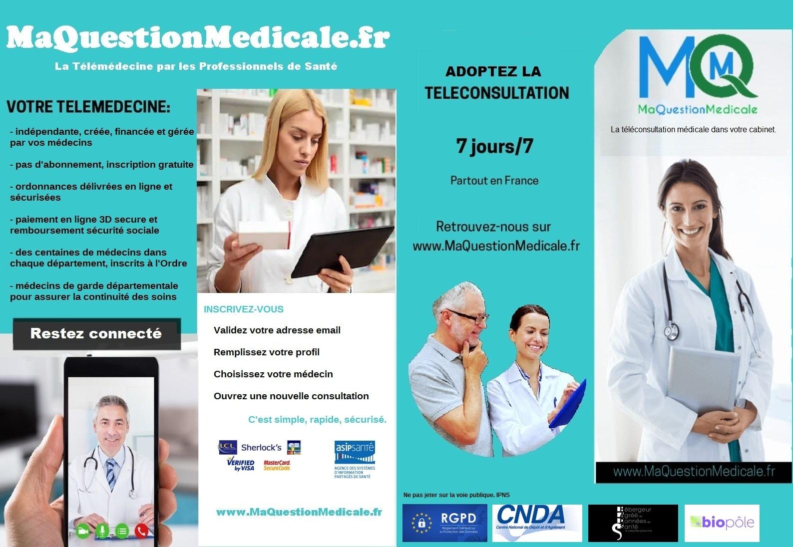 Brochure imprimable affiche médecin MaQuestionMedicale