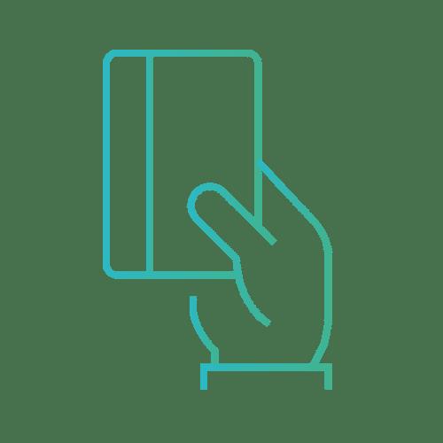 Carte bleue pictogramme Moyen de paiement